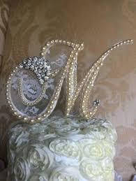 pearl monogram cake topper custom topper for eleni pearl cake topper monogram cake topper