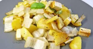 cuisiner des cotes de blettes poêlée de côtes de blettes pommes de terre et tofu recette par