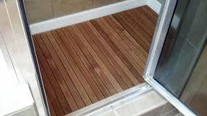 bathroom shower floor ideas teak wood shower floor with cool teak shower floor construction