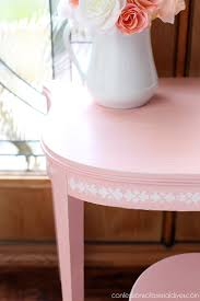 Pink Nightstand Side Table U0027s Vanity Set From An Antique Side Table Confessions Of A