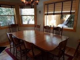 log dining room table vacation home rio vista log cabin retreat four bedroom cabin