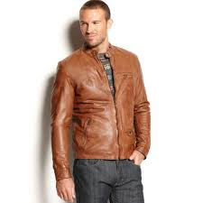 motorcycle jackets for men lucky brand salt flats leather motorcycle jacket in brown for men