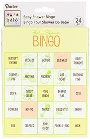 baby shower bingo darice baby shower bingo 24 arts crafts