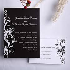 wedding invitations black and white classic black and white damask wedding invitations ewi023 as low