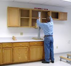 installation kitchen cabinets how to install upper kitchen cabinets faced