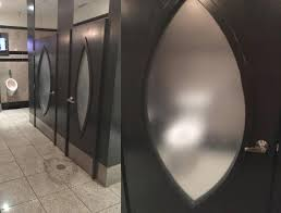 Bathroom Stall Locks This Restaurant Uses Semi Transparent Frosted Glass For Its