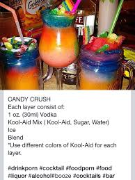 candy crush slushie cocktail tipsy bartending