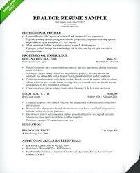 Sample Real Estate Resume Sample Real Estate Agent Resume U2013 Topshoppingnetwork Com