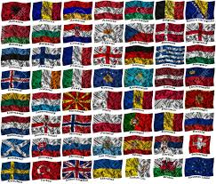 Flag Of All Countries Flags Of All Europe Countries On A Silk Background Stock Photo