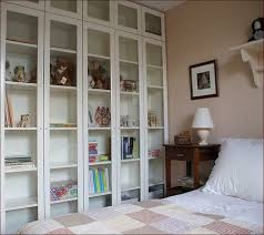 Glass Bookcases With Doors Bookshelf Ikea Glass Shelves Unit With Ikea Glass And Metal