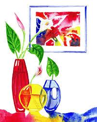 primary colors design painting by irina sztukowski