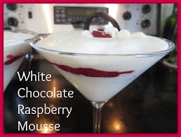 white chocolate martini white chocolate mousse with raspberry filling youtube