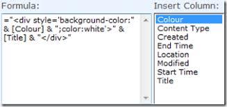 calendar colour coding in sharepoint