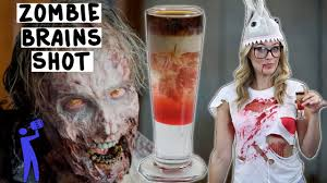 halloween drink names zombie brains shot halloween tipsy bartender youtube