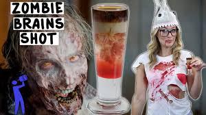 zombie brains shot halloween tipsy bartender youtube