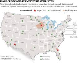 Map Of Cleveland Clinic Part Two Cautiously Mayo Clinic Builds An Empire Startribune Com