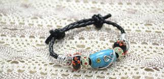 diy beaded cord bracelet images Diy leather cord bracelet with indonesia bead and aluminum wire jpg