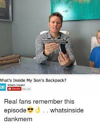 Whats Memes - what s inside my son s backpack what s inside in subscribe