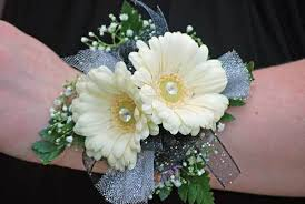 wrist corsage gerber wrist corsage wendys flowers