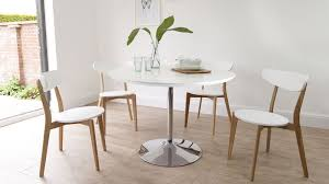 Painted Oak Dining Table And Chairs Round White Gloss Dining Table Oak Chairs Uk Throughout And