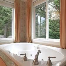 interior salmon modern window treatments for bathrooms with oval