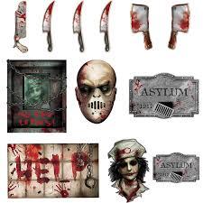 amazon com 12 piece bloody asylum paper cutouts valuepack garden