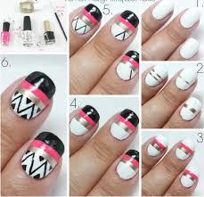 easy nail art designs at home easy nail art designs step step at
