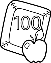 100 day coloring page 100 day coloring sheets 100th day of