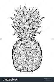 coloring pages lovely pineapple coloring page 21 about remodel