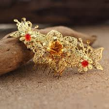 traditional hair accessories vintage gold traditional style bridal hair comb wedding