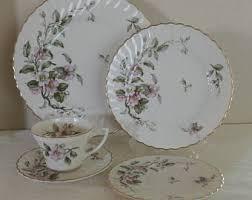 syracuse china bridal apple blossom china etsy