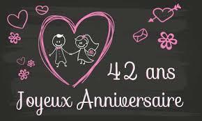 42 ans de mariage carte anniversaire mariage 42 ans tableau