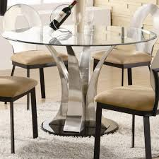 round glass top table with metal base awesome modern glass top dining table with chrome metal pedestal