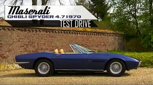 maserati merak spyder maserati ghibli spyder 4 7 1970 modest test drive v8 engine