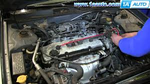 how to install change spark plug wires nissan altima 2 4l youtube