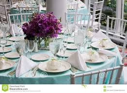 Wedding Reception Table Settings Table Set For A Wedding Table Set For A Wedding Reception Stock