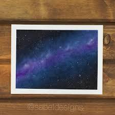 Spray Paint Universe Watercolor Galaxy Sabeldesigns Painting Universe Watercolor