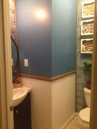 my first solo project guest bathroom blah to beachy hometalk