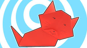 easy origami paper cat kids instructions youtube