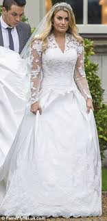 wedding dress up towie s danielle armstrong joins co at nanny pat s royal