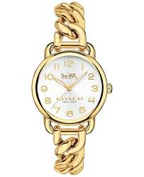 link bracelet watches images Coach women 39 s delancey gold tone stainless steel chain link tif