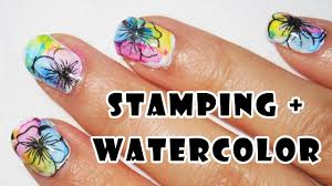 stamping watercolor nails perfect for beginners youtube