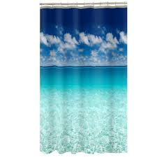 beach themed shower curtain bathroom beach theme fabric shower