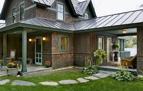 Patio Metal Roof by Concave Curved Metal Roof Exterior Rustic With Covered Patio