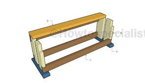 wood saw bench plans howtospecialist how to build step by