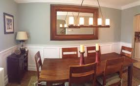 dining room with chair rail home design ideas