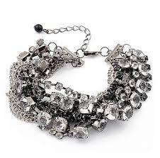 rhinestone bracelet images Smokey rhinestone bracelet jpg