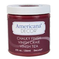 decoart americana decor 8 oz rouge chalky paint adc07 95 the