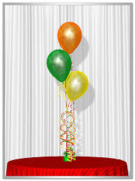 balloon centerpiece 3 tier balloon bouquet by balloons in motion