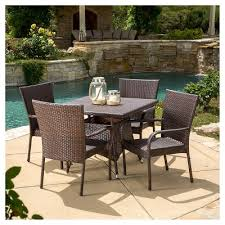 Pvc Wicker Outdoor Furniture by All Weather Wicker Patio Furniture Target